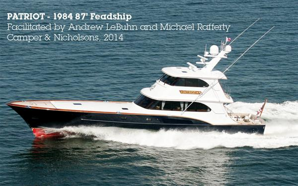 PATRIOT - 1984   87 foot Feadship donated to AMIkids in 2014