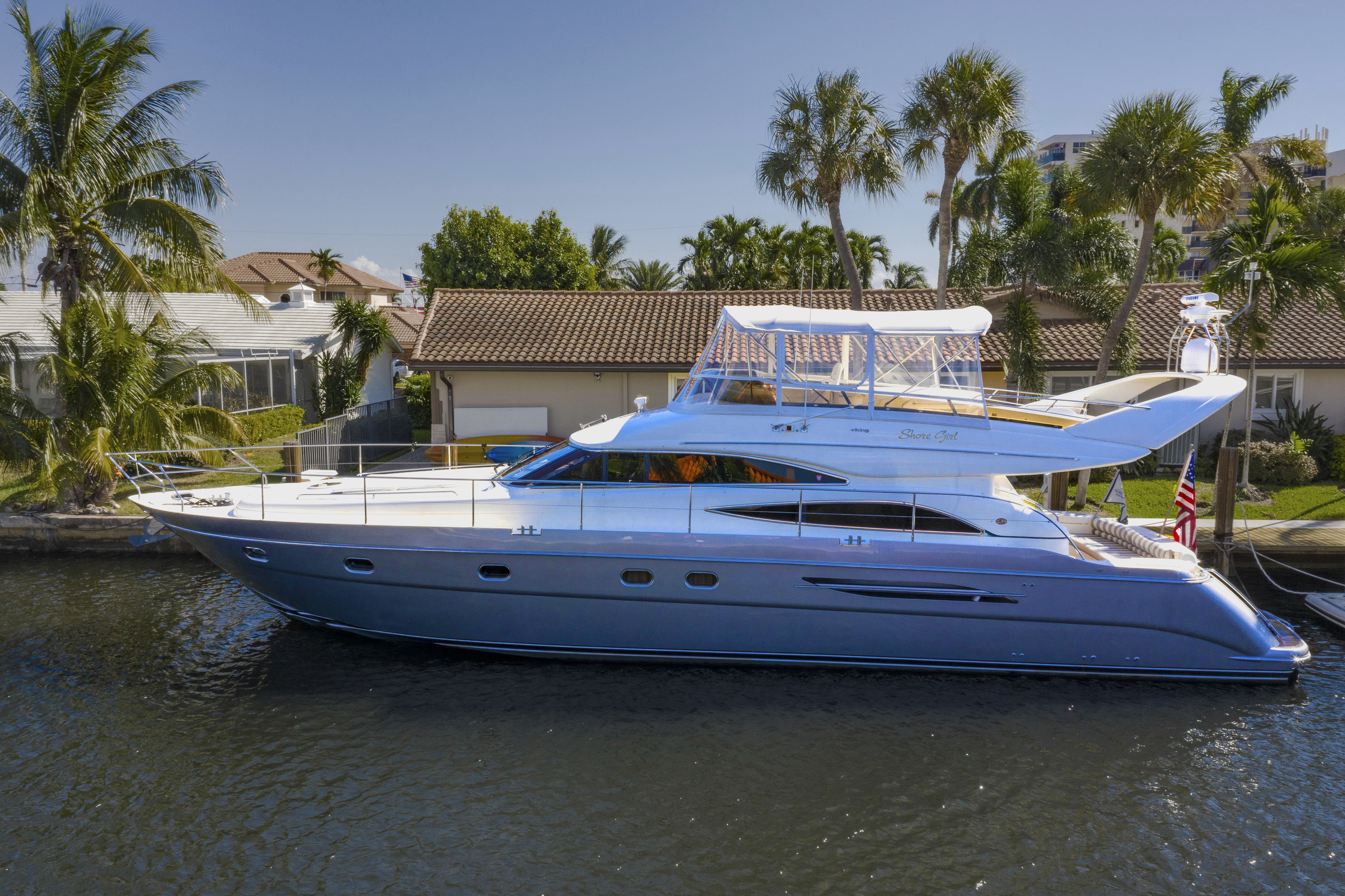 61' 2003 Viking Princess FBMY Shore Girl